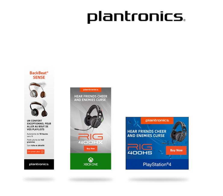 Plantronics Animated Banner Campaigns
