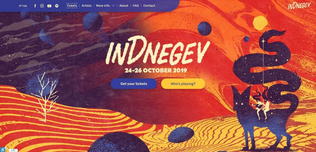Indnegev ecommerce website design example