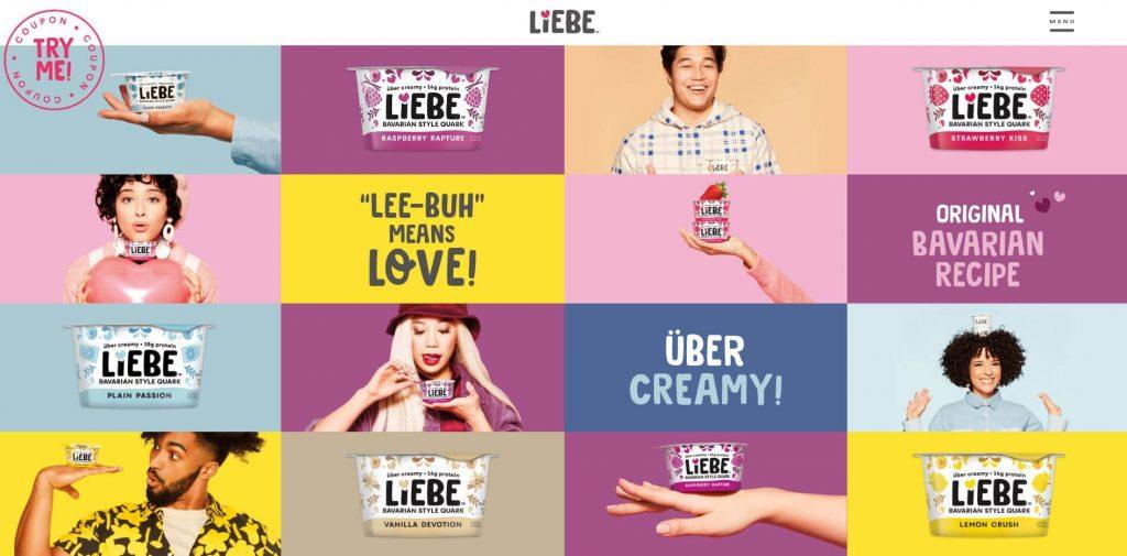 Liebe brochure website design example