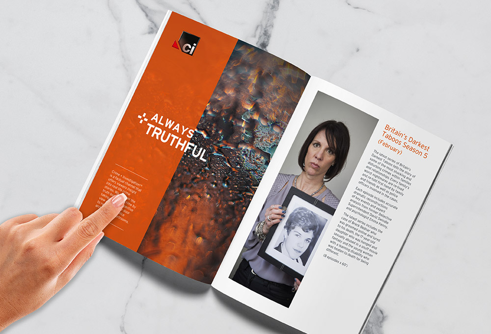 digital and print design brochure