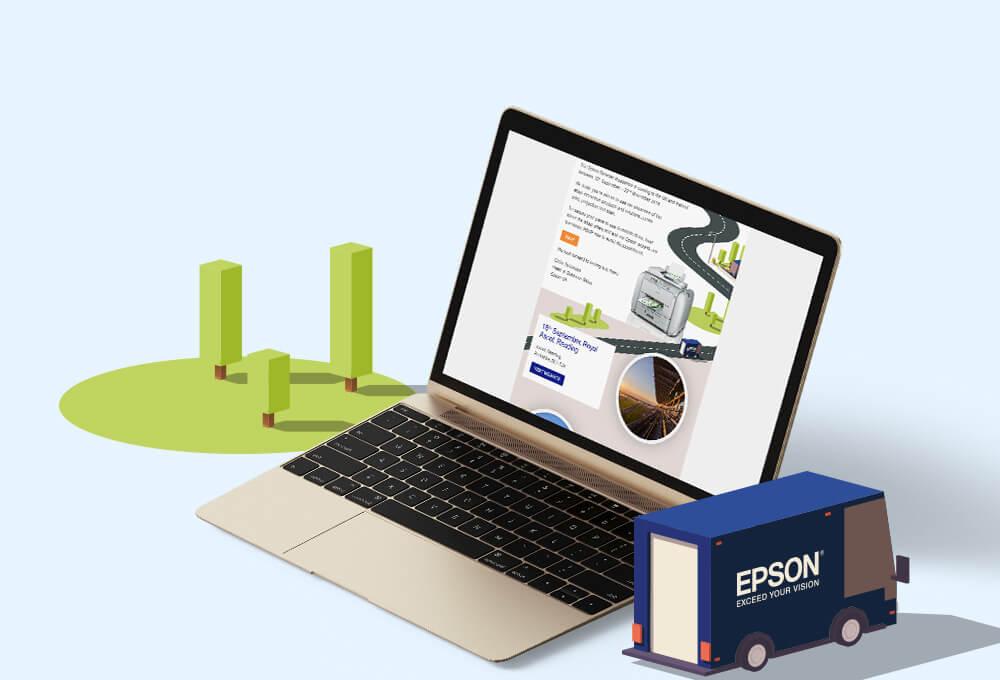 Epson email marketing design
