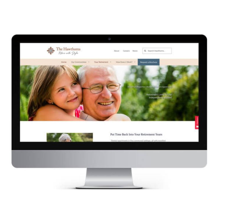 Hawthorns Retirement Properties Website Design and Development