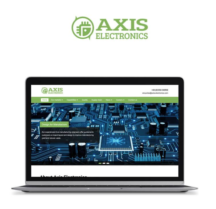 Axis Electronics Website Redesign