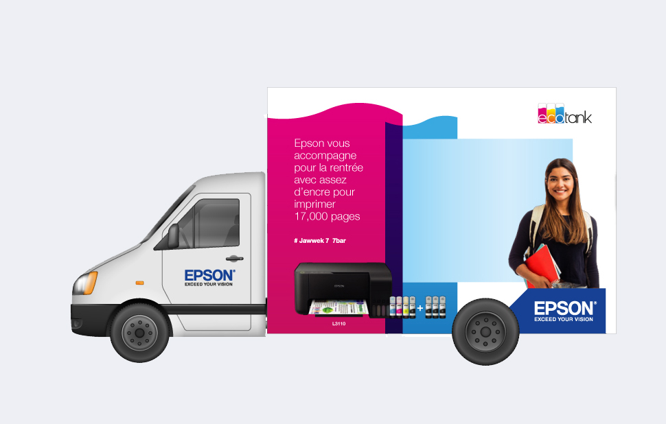 Epson Truck OOH Print