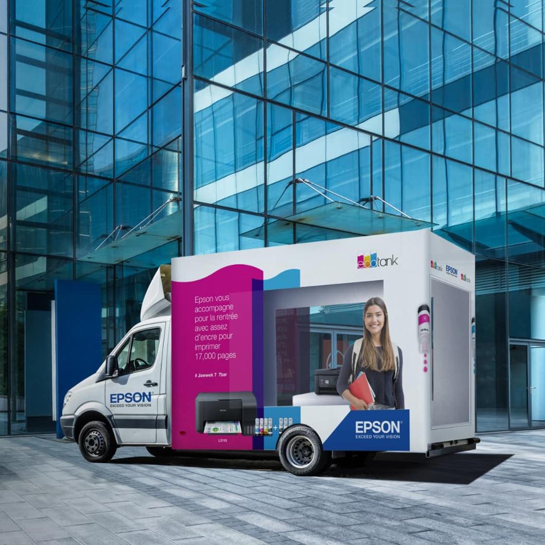 Epson - EcoTank Truck Billboard Campaign
