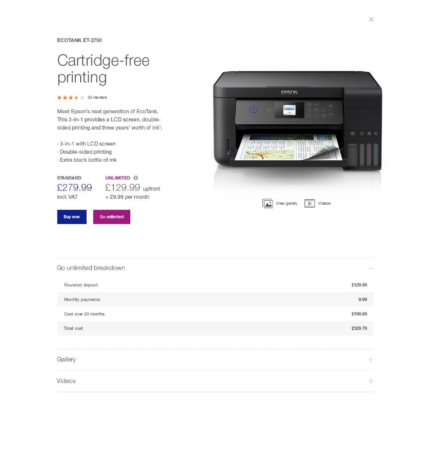 Ecotank Cartridge Free Printing