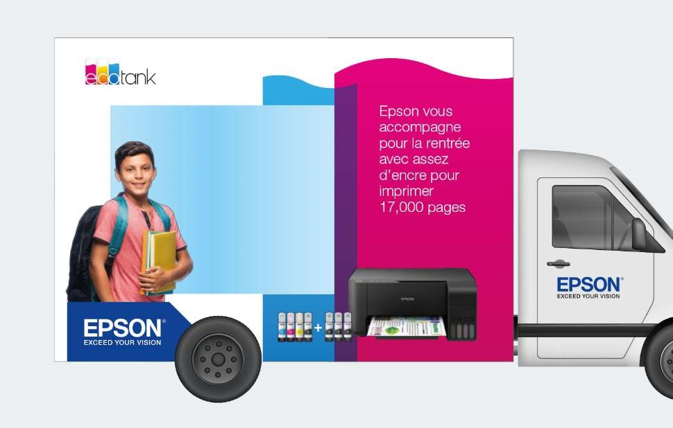 Ecotank Truck Print Campaign