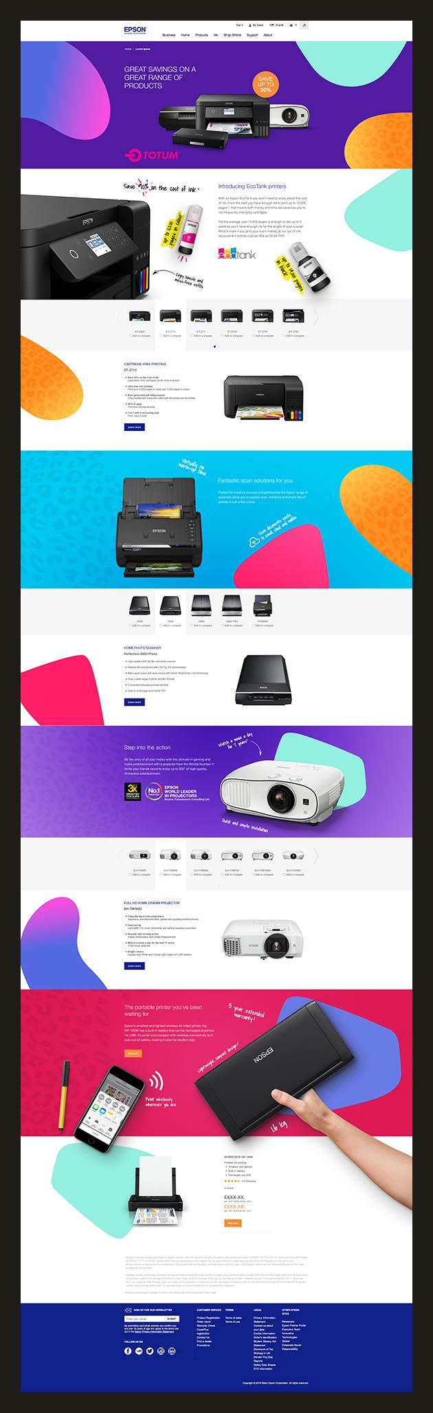 Creatve landing page website design