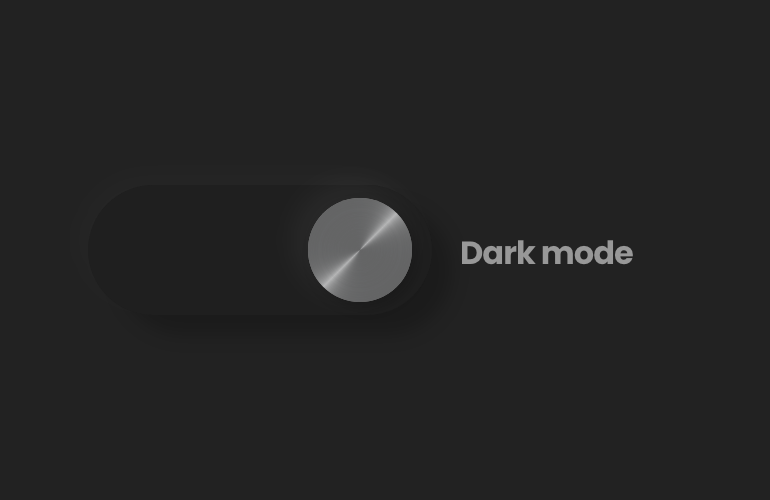 Dark mode turned on