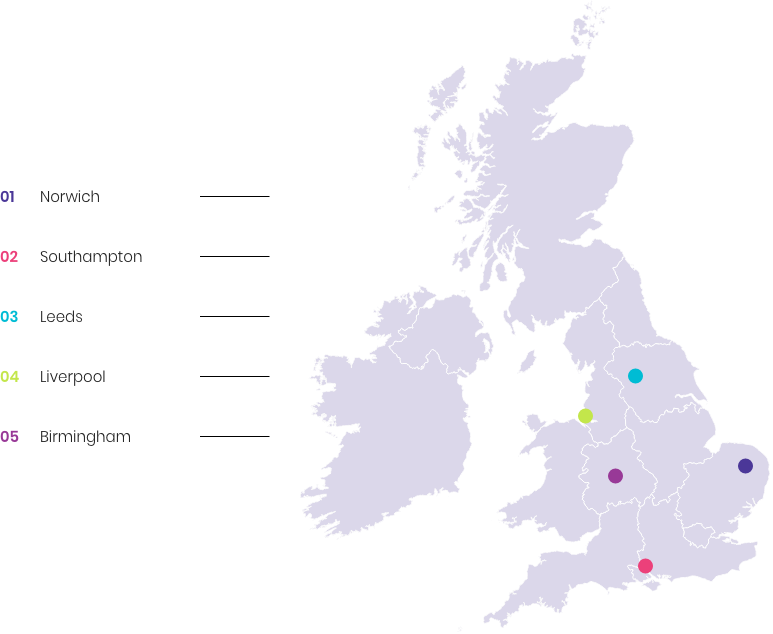 UK map showing least confidence in developments to improve UX
