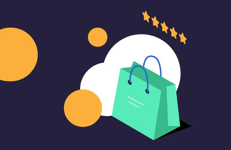 A green shopping bag