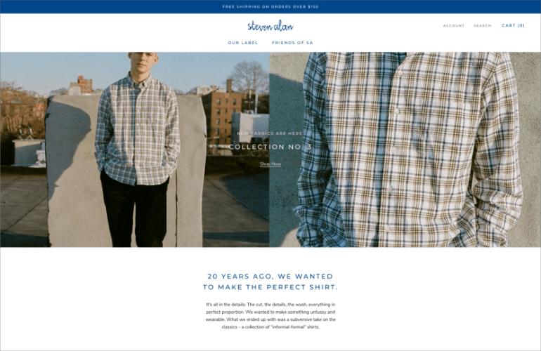 Steven Alan website