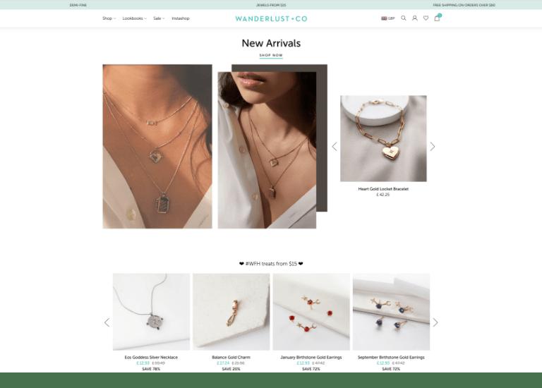 Wanderlust + Co website