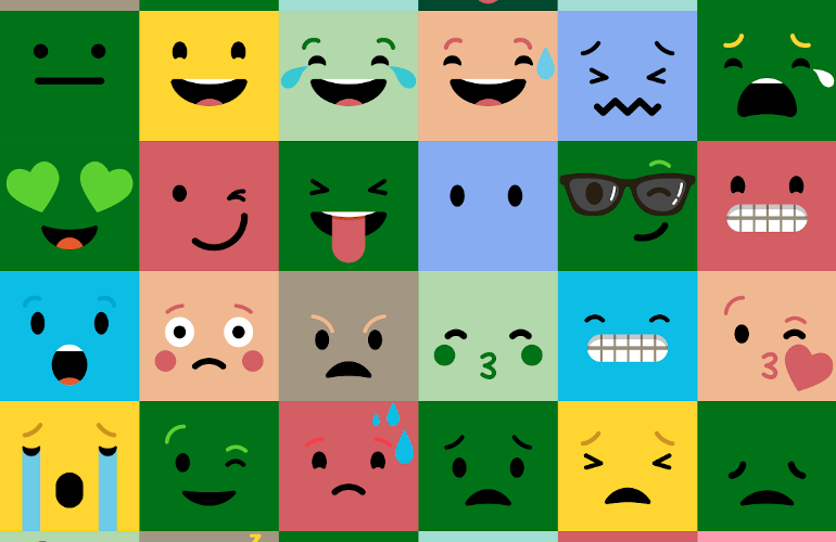 different emojis