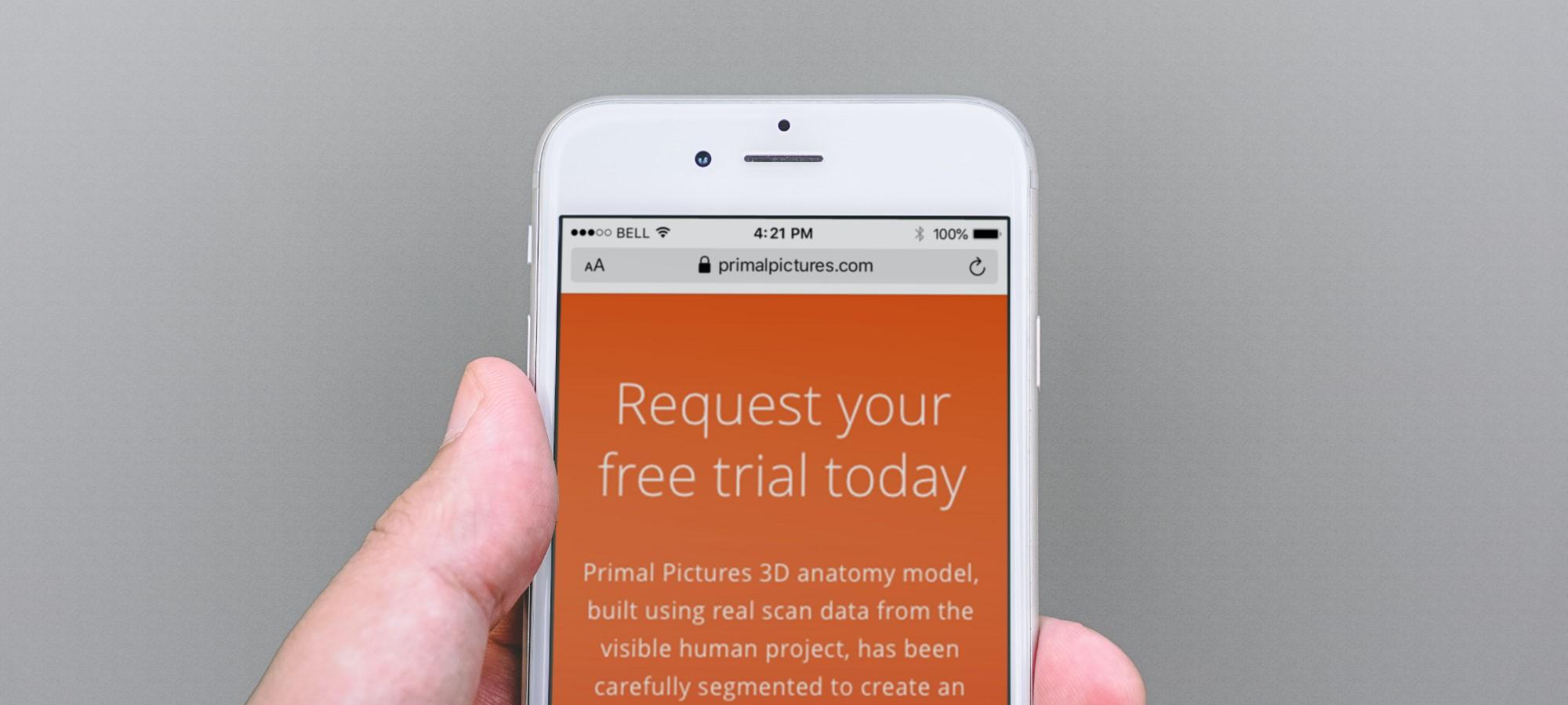 mobile viewing primal website