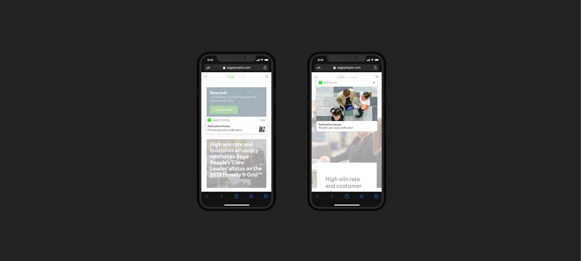 Mobiles browsing sagepeople website