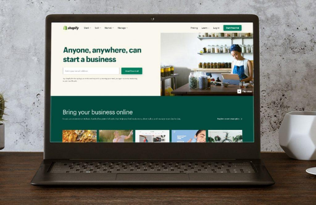 Shopify-laptop