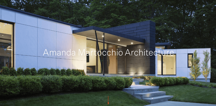 Amanda Martocchio Architecture website design example