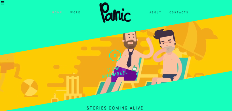 Panic brochure website design example