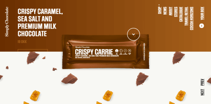 Simply Chocolate Ecommerce website design example