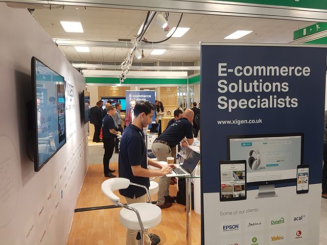Xigen area at Ecommerce Expo 2017